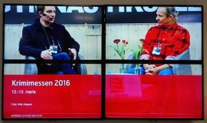 Sidste års vinder, Teddy Vork, interviewes af Steffen Larsen (Foto: Willy Wegner)