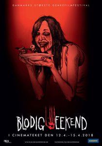 Blodig Weekend. Plakat af John Kenn Mortensen
