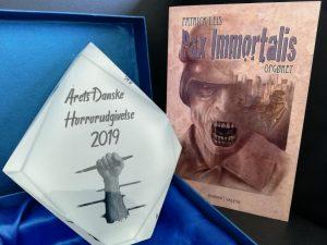 """Vinderen af Årets Danske Horrorudgivelse 2019 blev Patrick Leis for """"Pax Immortalis - Opgøret"""""""